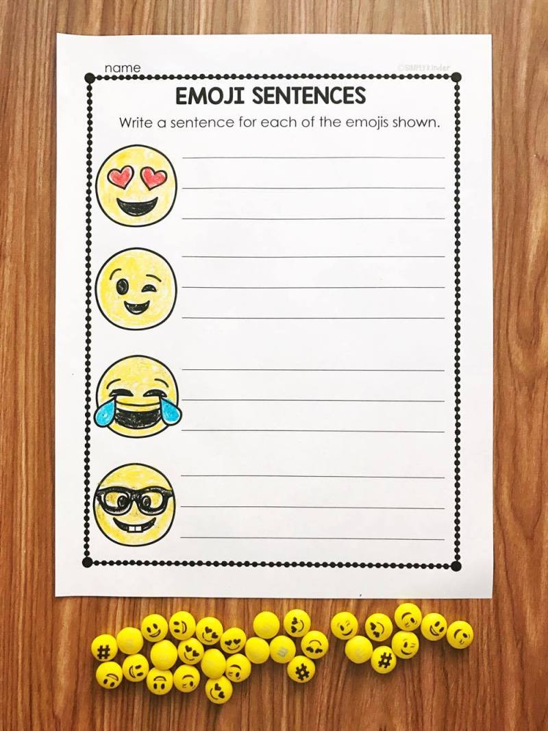 WRITING ACTIVITIES: Free activities for Emoji Conversation Hearts and Emoji M&M's. These are prefect for kindergarten and first grades.