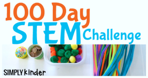 100th Day Stem Activity perfect for kindergarten and first grade students.