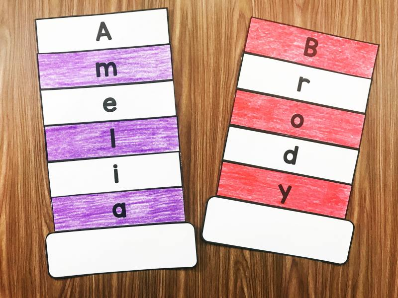 These fun Name Pattern Hats from Simply Kinder are editable and super easy for your students to assemble. Add to a sentence strip for even more fun!