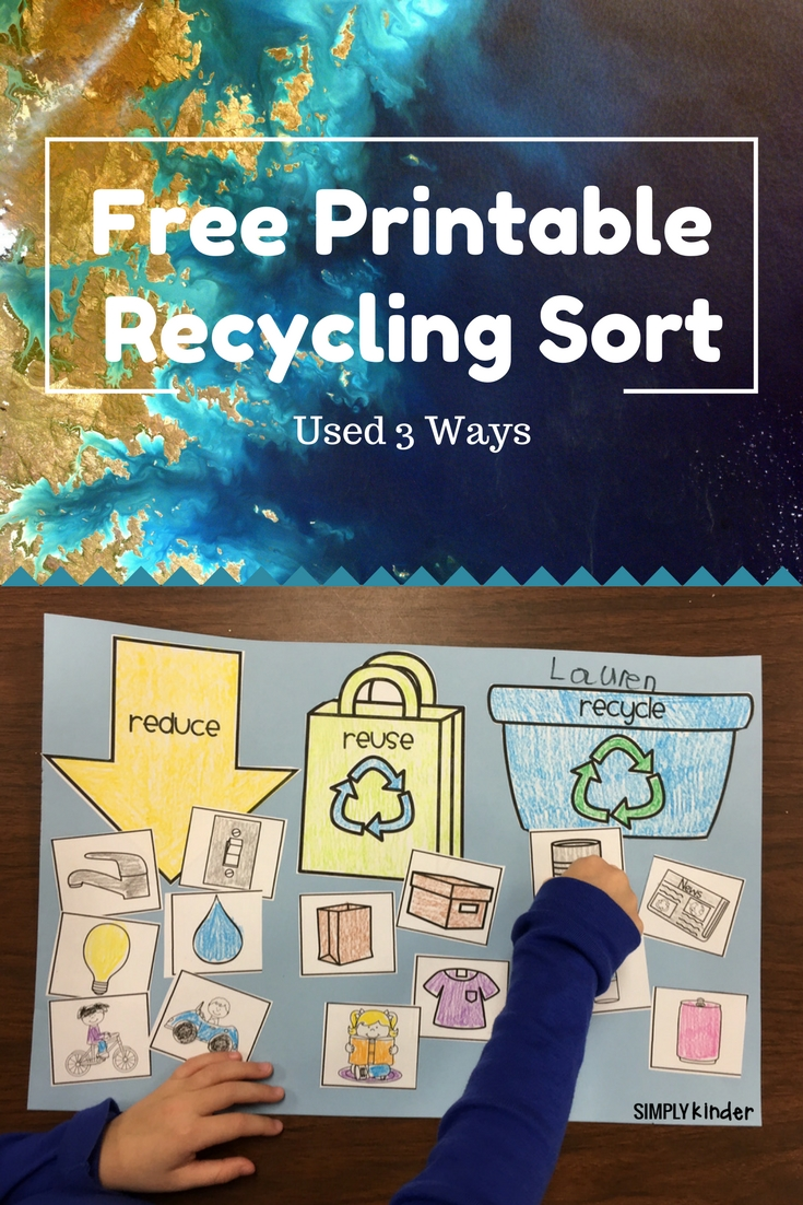 hight resolution of Free Recycling Sort - Simply Kinder