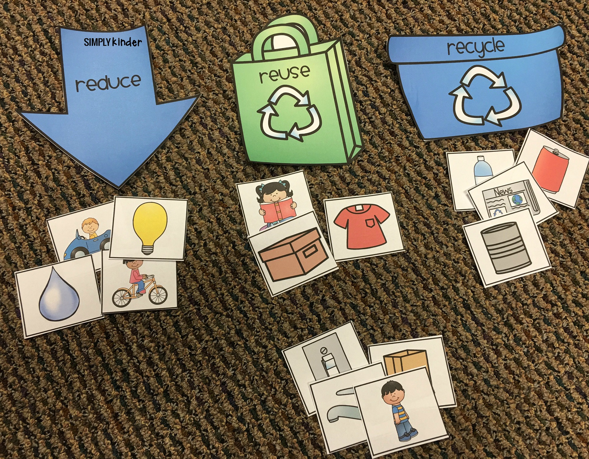 medium resolution of Free Recycling Sort - Simply Kinder