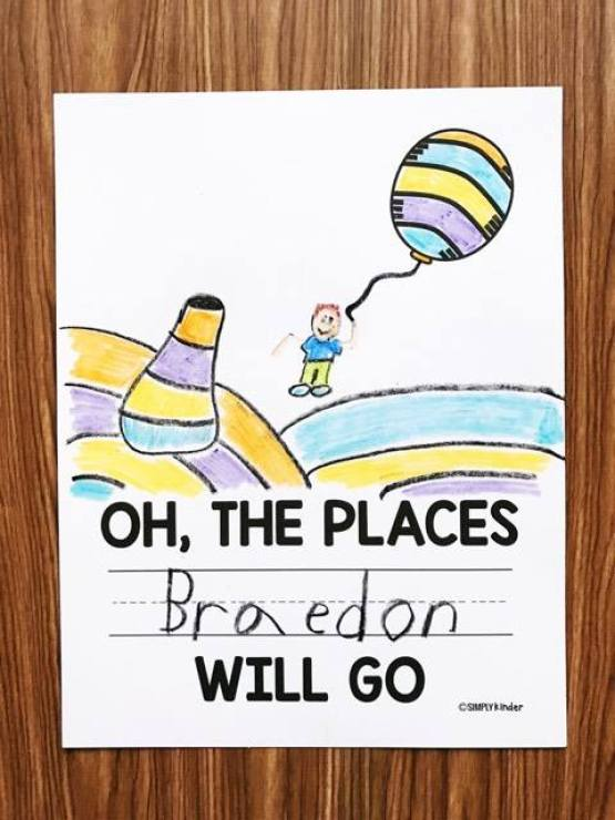 Oh The Places You'll Go Coloring Pages : places, you'll, coloring, pages, Places, You'll, Printable, Simply, Kinder