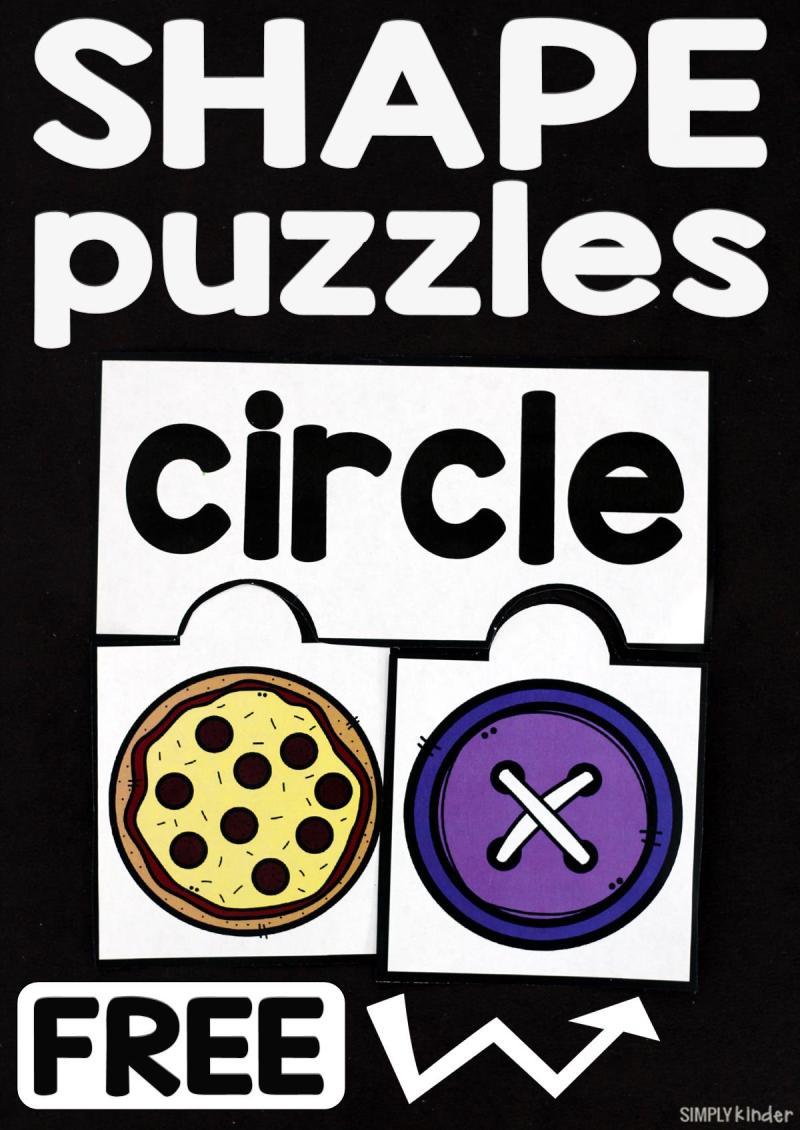 Free Printable 2D Shape Puzzles