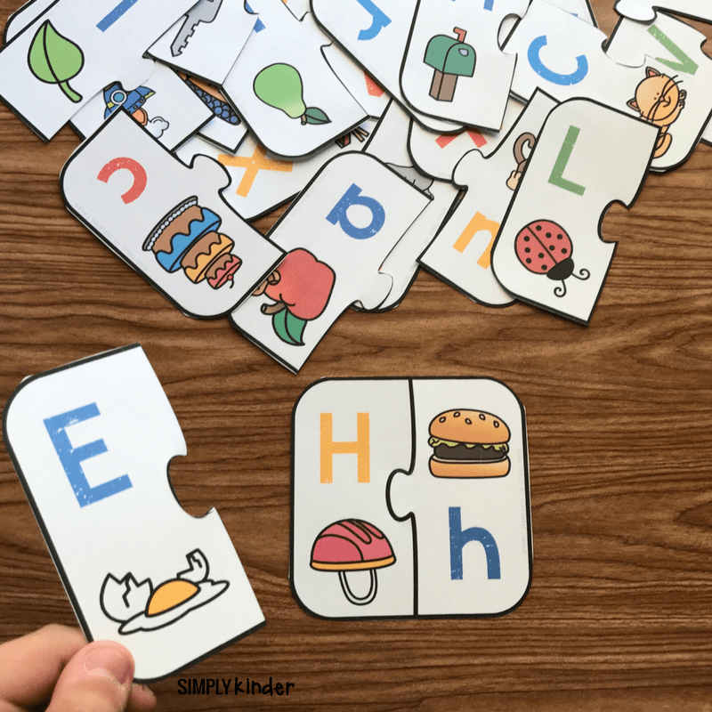 Free Printable Letter Matching Game - Simply Kinder