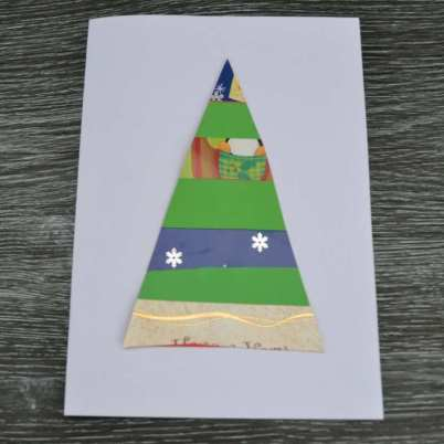 simply kinder recycled christmas card step 4