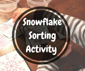 Snowflake Sorting Activity
