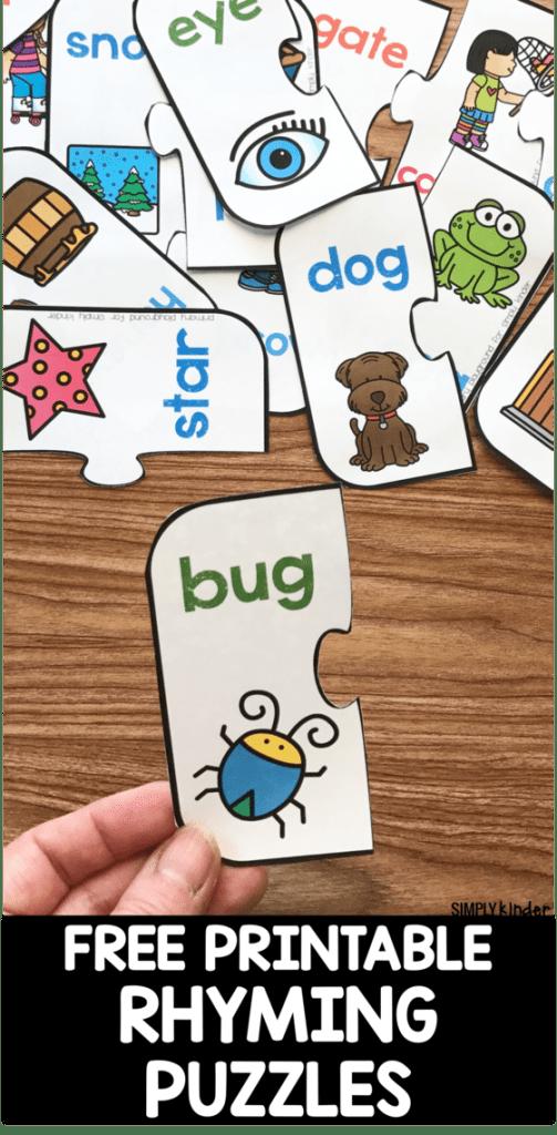 Free Printable Rhyming Puzzles