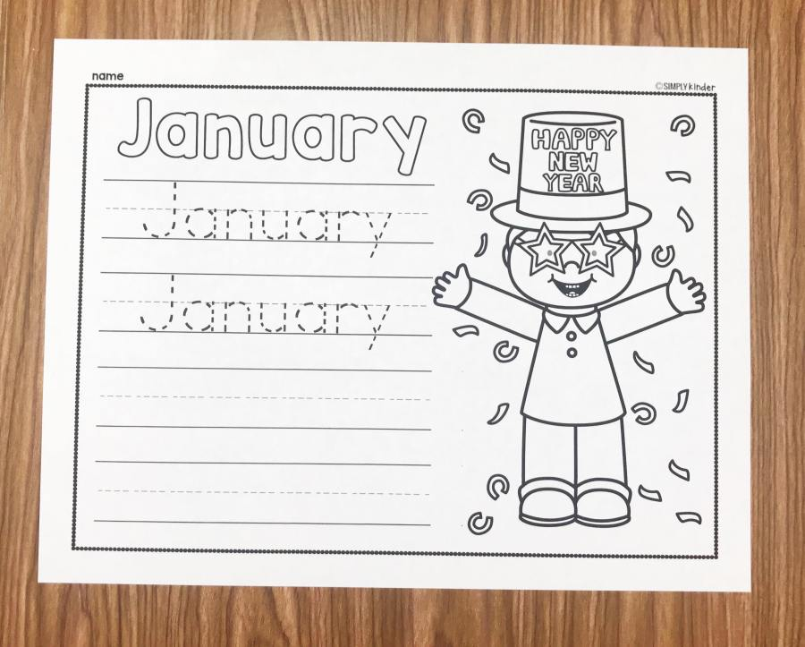 Teach your students to write the word January with these free January Writing Printables from Simply Kinder. Perfect for kindergarten and first grade students.