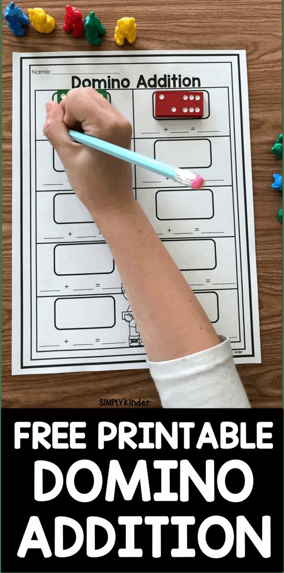 medium resolution of Free Printable Domino Addition - Simply Kinder