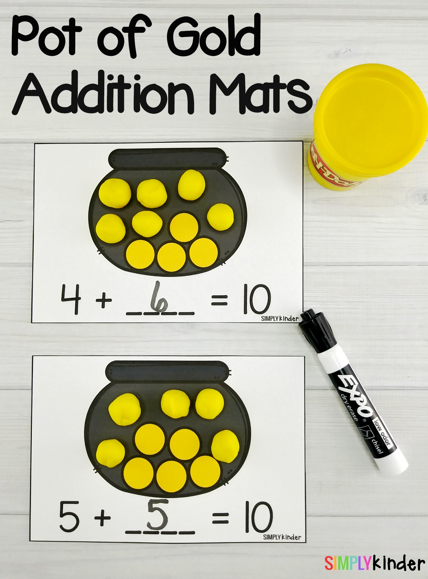 Free Printable Pot Of Gold Addition Mats For St Patrick S Day