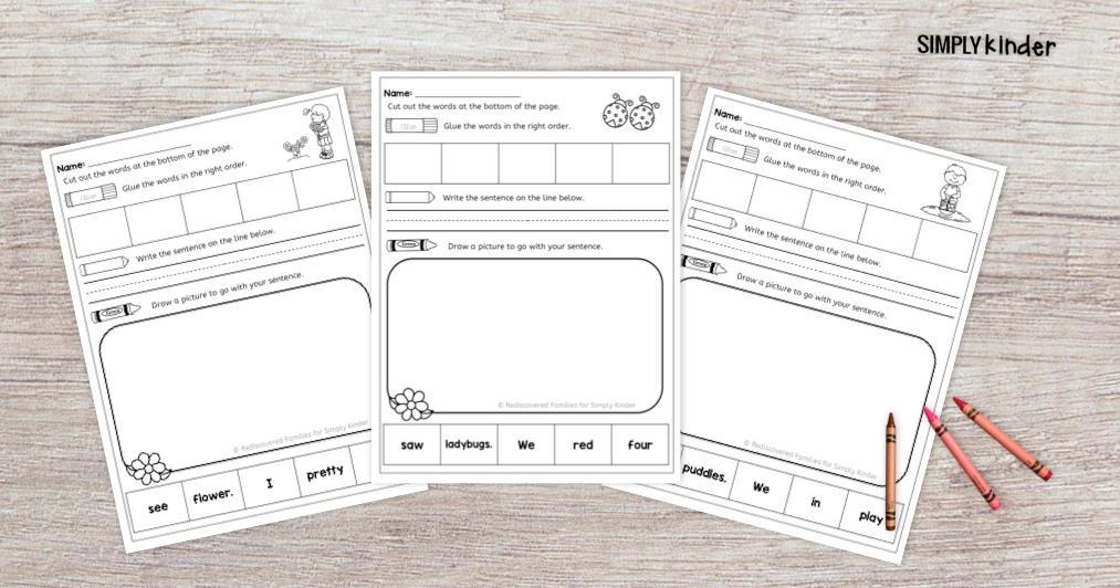 Free Spring Sight Word Practice Sheets For Kindergarten Simply Kinder - 33+ Printable Worksheets Kindergarten Sight Words Background
