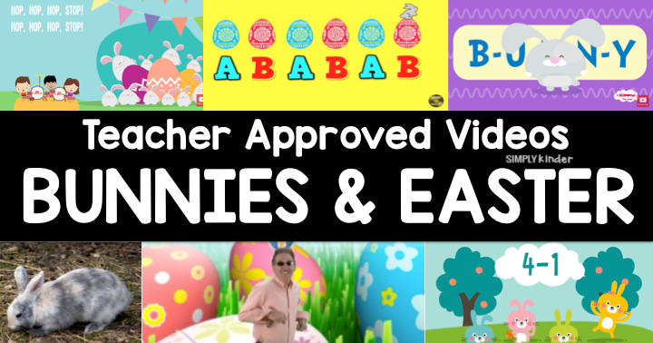 Teacher Approved Easter Videos for preschool, kindergarten, and first grade students. A fun listing of songs to work on readings, following directions, and math with an Easter theme.