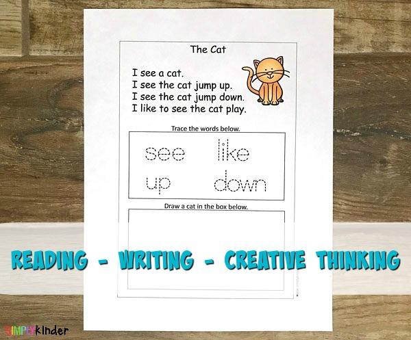 kindergarten sight word cat story
