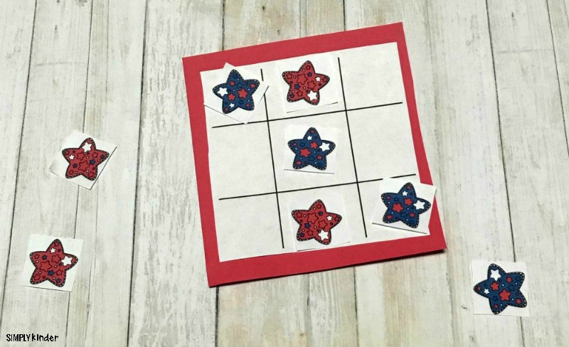 red, white, and blue printable game