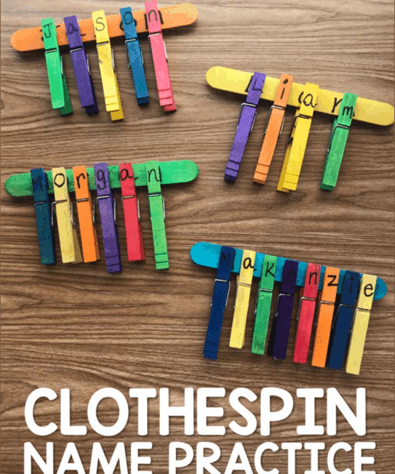 Clothespin Name Practice