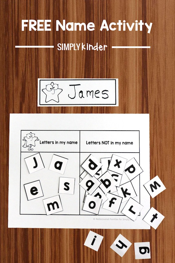 Sorting Game To Help Kinders Learn Their Names (Free Printable)