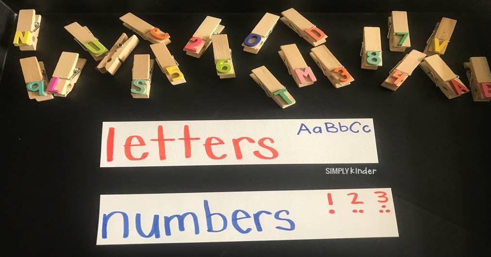 Letter And Number Discrimination - Simply Kinder