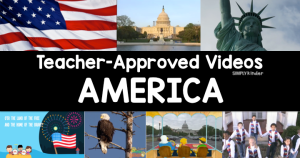 Whether you are learning about America for your social studies content or if you are working on a specific holiday, learning about our country is loads of fun!  Here is your teacher-approved list of videos all about America.