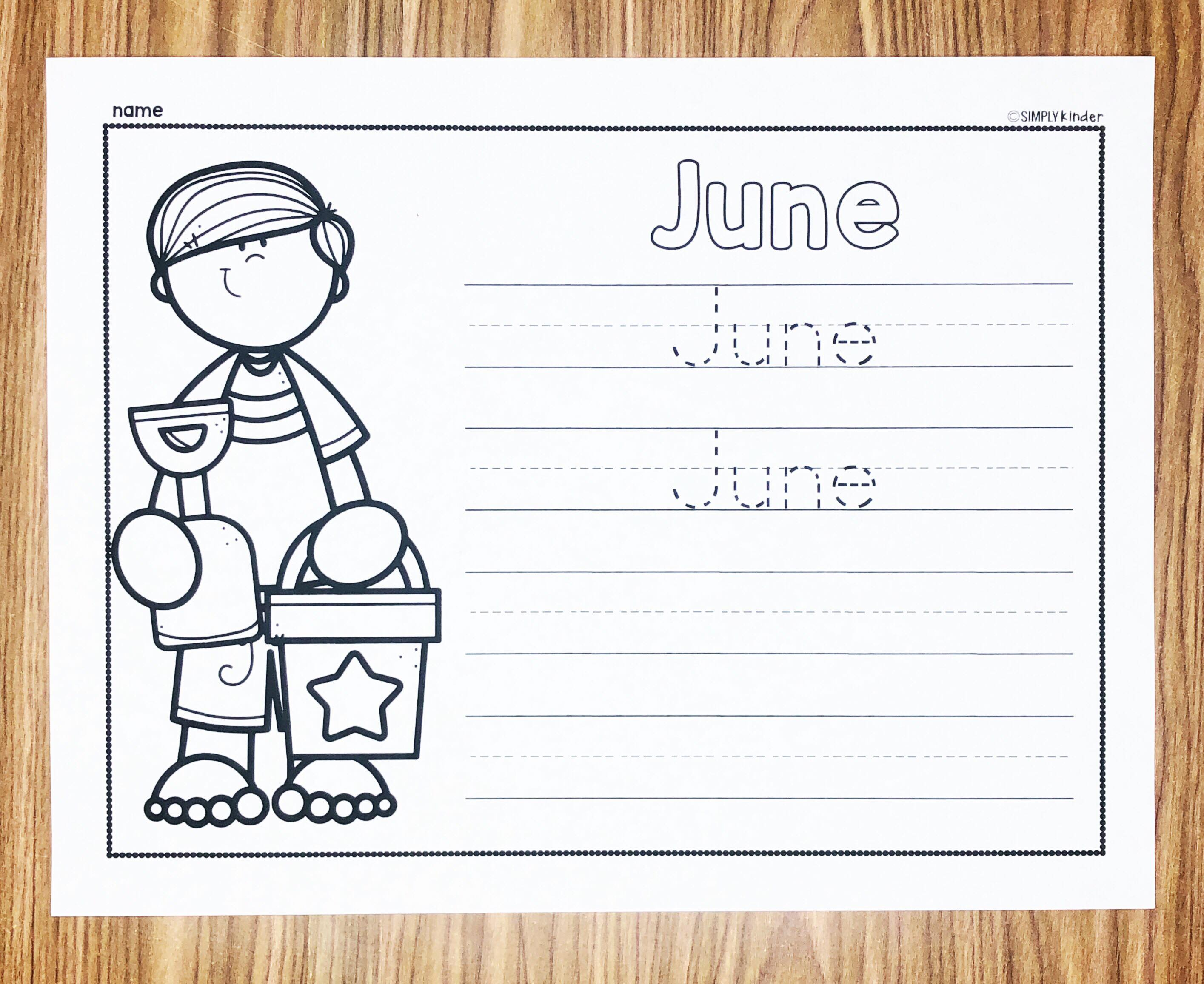 June Learn To Write The Month