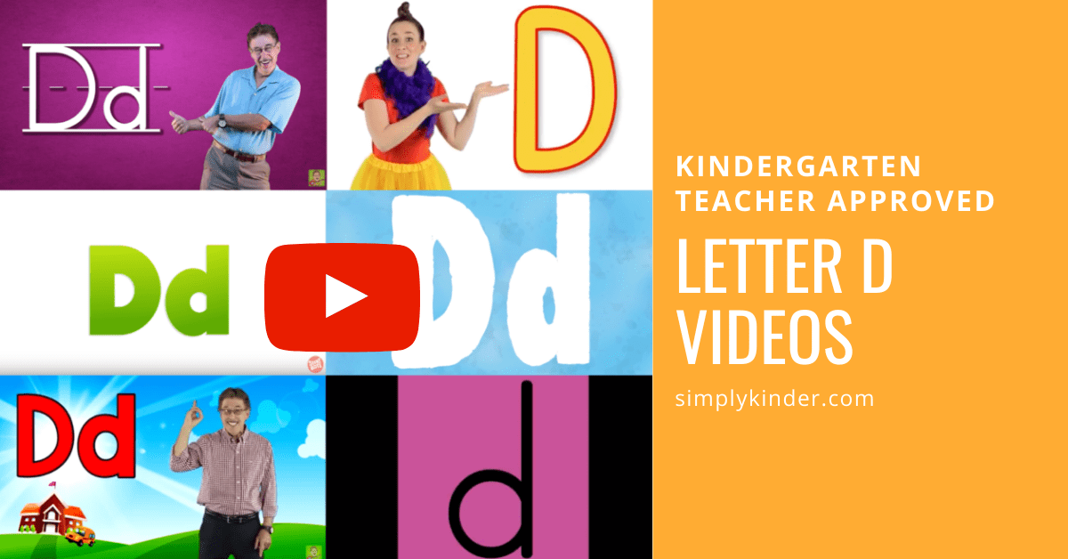 Teacher-Approved Videos Letter D - Simply Kinder