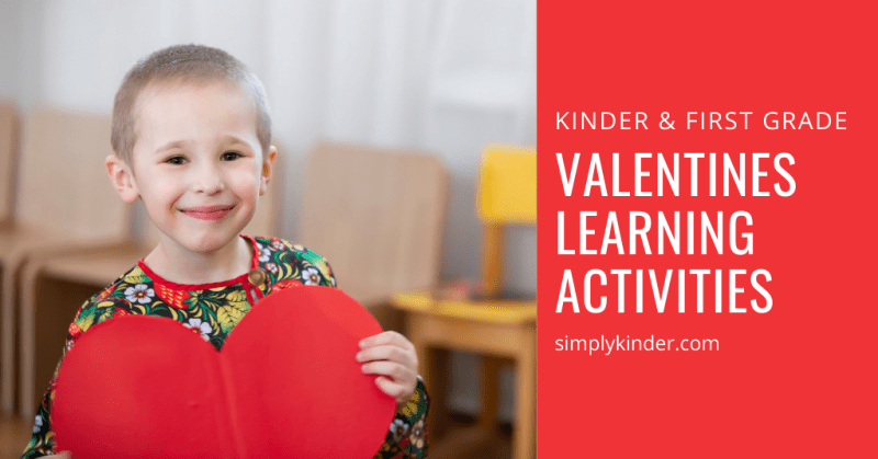 Valentines activities for Kindergarten feature