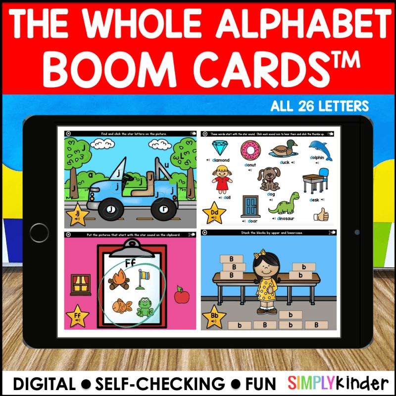 The whole alphabet Boom Card