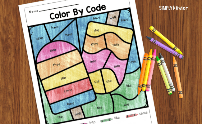 color by code summer sheets
