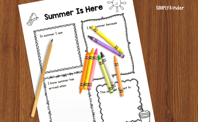 close up of summer writing prompt