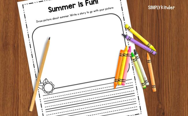 summer is fun worksheet