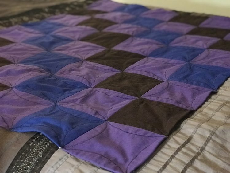 Back of the finished quilt.