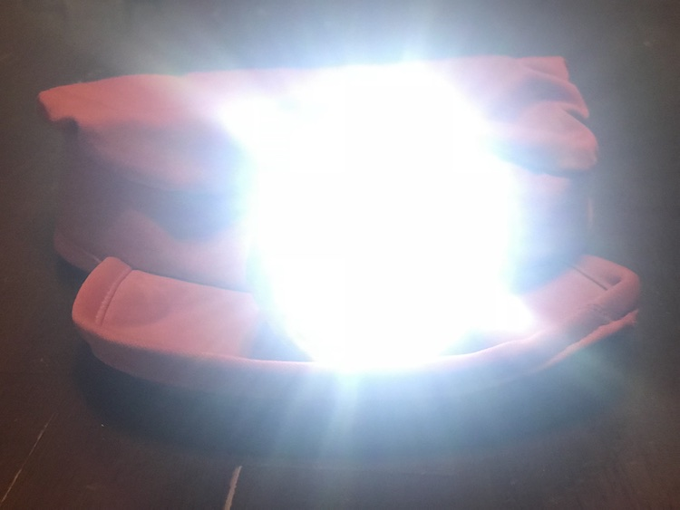 A working train light on the hat that can be easily turned off and on by me… and the batteries are accessible to replace.