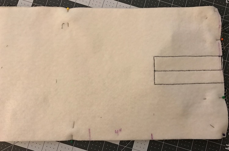 Add a reminder mark on where to leave an opening to flip the cover the right way around.
