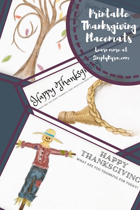 Do you want a little something more on your Thanksgiving table? I created 7 Thanksgiving Placemats just for you!