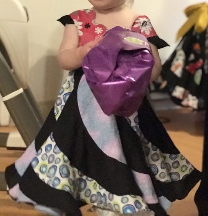 Zoey's dress from the front.