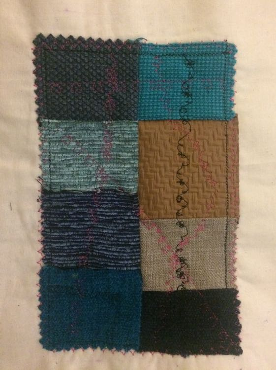 I also used other colors of thread and sewed decorative stitches to show through the zippers.