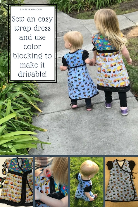 Sew an easy wrap dress through Candy Castle Patterns. I then went and color blocked it to make it drivable for my 52 Week Sewing Challenge.