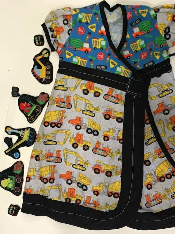 And the front... along with the dinosaurs I spent a bit making that she decided not to include on the dress... I had pictured them driving along on the road.