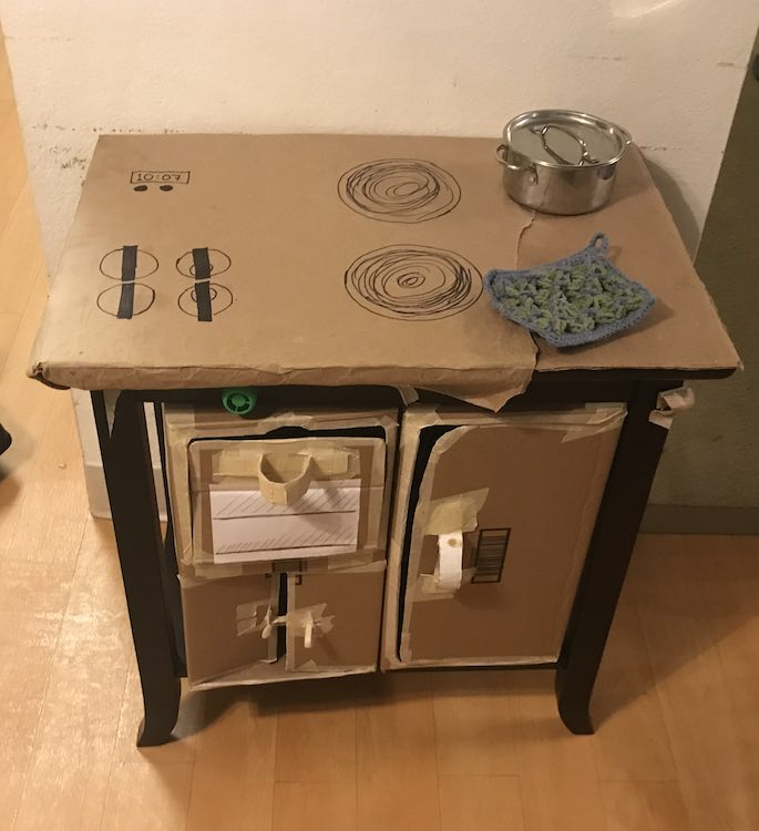 Kitchen set from an end table.