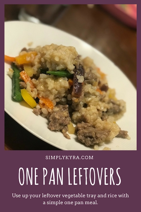 One Pan Leftover Veggies and Rice