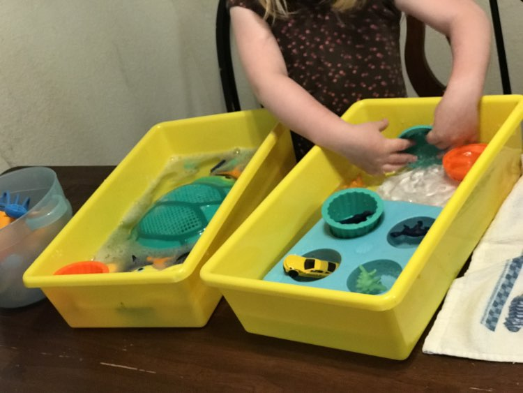 See how they play as the 'wash' the 'dusty musties' from the toys.