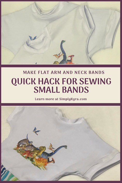 Learn a quick sewing hack! Do you hate sewing on neckbands, leg bands, or arm bands? Is it really hard to hem your kids' sleeves with your sewing machine? Learn a simple hack where you hem or attach the band BEFORE closing the last seam. So simple!