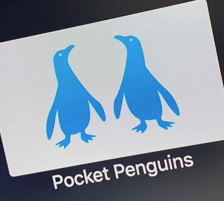 The Pocket Penguins app on the Apple TV has three different camera angles to view African penguins from the California Academy of Science.