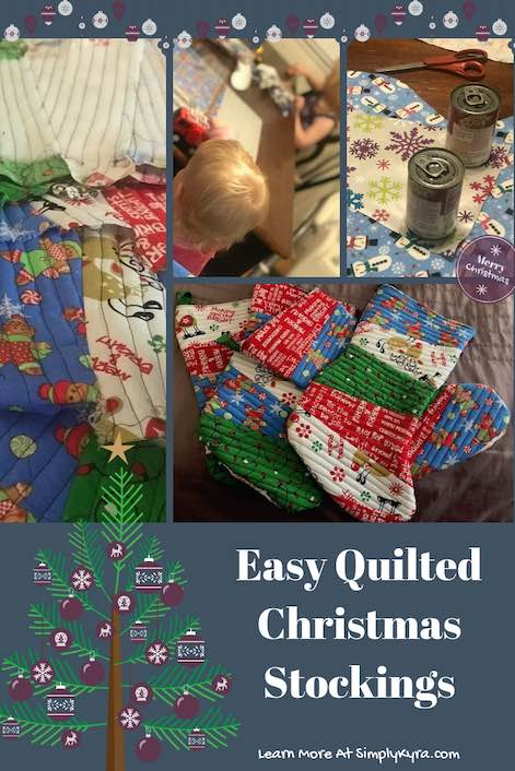 Create a simple quilted Christmas stocking! I followed a quilt as you go tutorial I found online that I link at the end of my post. Love how my stockings make me smile.