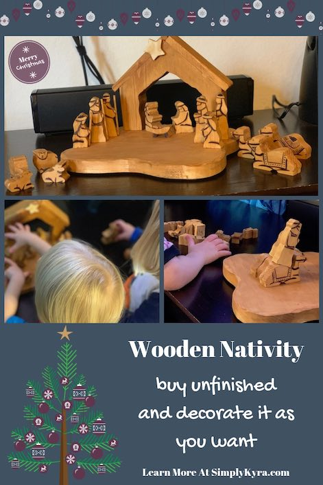 Are you looking for a new nativity scene. I bought an unfinished wooden one from Etsy and finished it off myself. There's so many different ways you could finish your nativity.