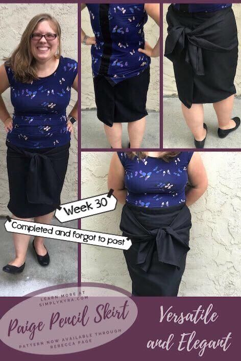 Photos of the Paige Pencil skirt.