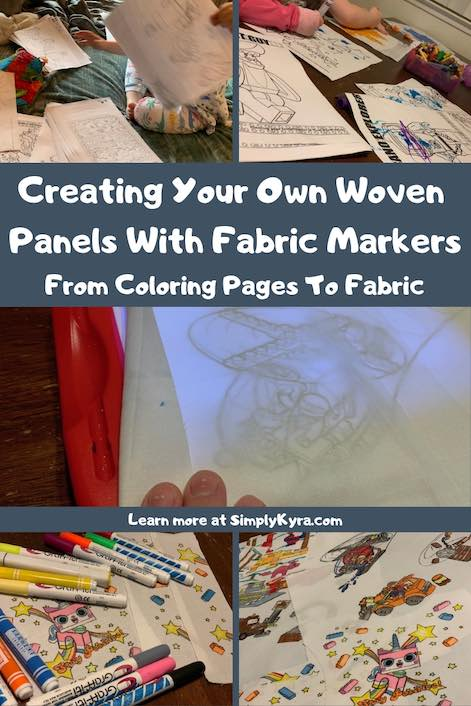 When you can't find what you want in store why not create it yourself? I used coloring pages to sketch out LEGO® images on white woven fabric and later colored them in. The perfect custom fabric to use with your sewing patterns.