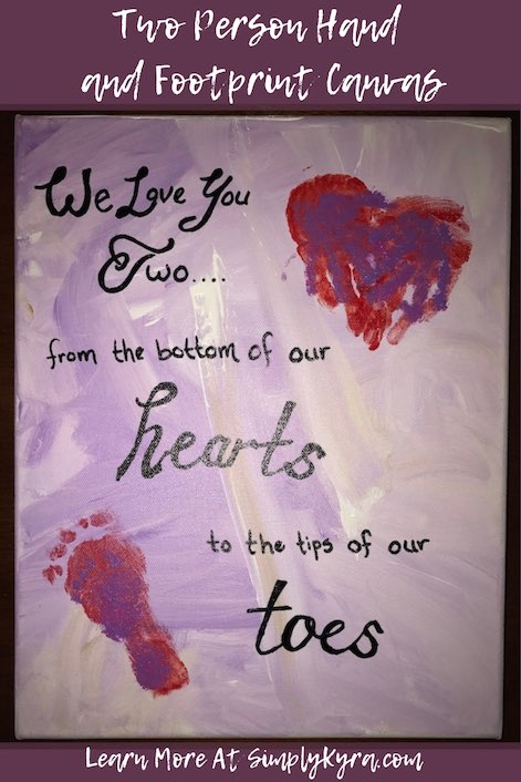 Do you want to save your child or children's hand and footprints while they're still little? Do you want art on their wall that reminds them that they're loved? Why not do both?