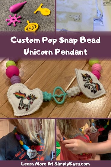 Various images of the pop snap beads collaged together for Pinterest. All images are also found below.