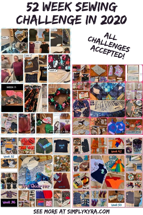 "Pinterest image showing my blog's title, the text ""All challenges accepted!"", my main URL, and all four quarterly collages."