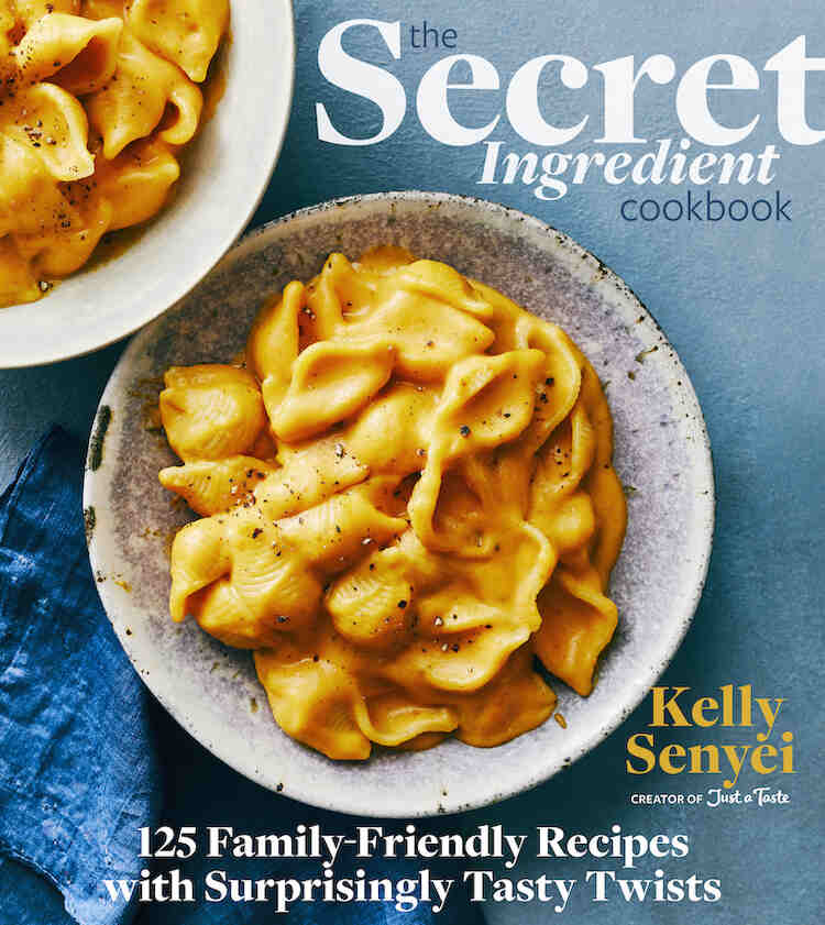 """Image shows the cover of """"The Secret Ingredient Cookbook"""" by Kelly Senyei."""